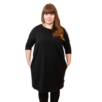HuiGee Basic dress Pihlava, black, comes in big sizes!
