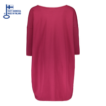 HuiGee Basic dress Pihlava, fuchsia, comes in big sizes too!