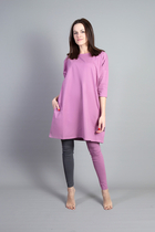 HuiGee Basic dress Pihlava, rose, comes in big sizes too!