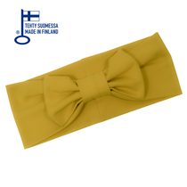 HuiGee Combo women's ribbon scarf/headband, yellow/black