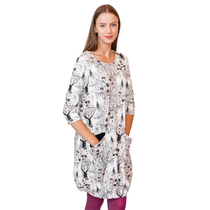 HuiGee Moomin Whomper women's tunic-dress with pockets