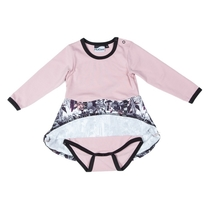 HuiGee Moomin baby's dress body suit The Hobgoblin's Hat, fuchsia/rose