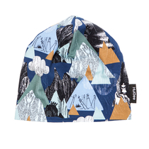 HuiGee Moomin beanie for everyone Mountains, blue, 3 sizes