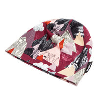 HuiGee Moomin beanie for everyone Mountains, fuchsia, 3 sizes