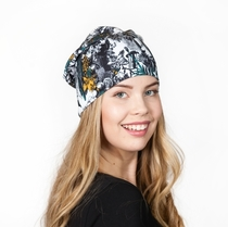 HuiGee Moomin beanie for the entire family, the Hobgoblin's Hat, petrol/yellow
