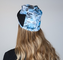 HuiGee Moomin bow beanie, Meriseikkailu, blue. 3 sizes