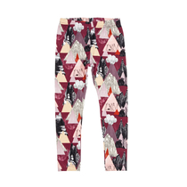 HuiGee Moomin children's leggings Mountains, fuchsia 92-128cm