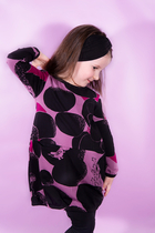 HuiGee Moomin children's tunic-dress with front pockets, Rock, rose/fuchsia
