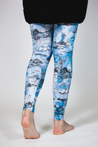 "HuiGee Moomin women's leggings ""Sea Adventure"", blue"