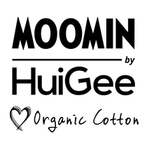 HuiGee Moomin women's night shirt/caftan Silhouette, black/white