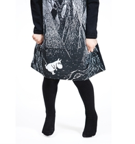 HuiGee children's tunic-dress, Moomin in the Forest 80-134cm, black/white