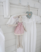 Isabelle Rose textile bunny, 2 color options