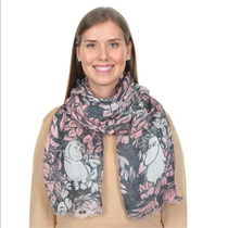 Lasessor Moomin The Hobgoblin's Hat scarf, rose
