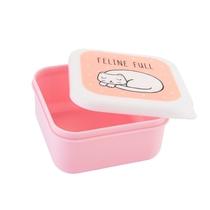 Lunch box set of 3, Cutie Cat, light pink