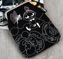 "Moomin ""Vinssi"" purse bag Little My with a chain, black"
