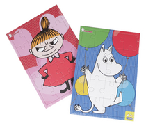 Moomin A4 set of 2 puzzles, 20+40 pieces