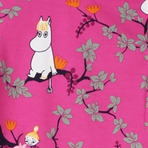 Moomin Climbing Tree body suit, pink