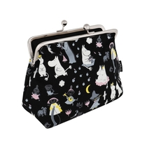 Moomin Emma pouch Moonlight, black