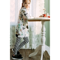 Moomin Little My children's leggings, black and white