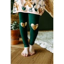 Moomin Moomintroll/Little My leggings, green