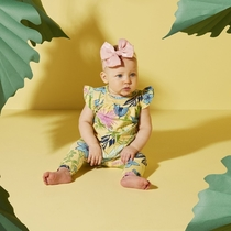 Moomin Paradise baby's dress, yellow