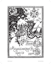 Moomin Poster 50 x 70cm, Map of Moomin Valley