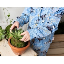 Moomin Summer Gallop sweatshirt jacket, blue