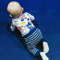 """Moomin baby's body suit, """"Pouta"""", blue"""
