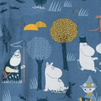 Moomin body suit forest trip, blue