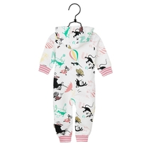 Moomin butterfly babies' jump suit, white
