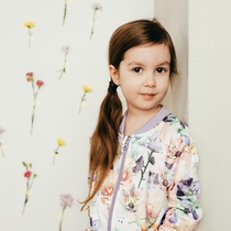 Moomin children's Anemone-bomber jacket, rose-colored