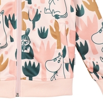 Moomin children's Blooming bomber jacket, rose