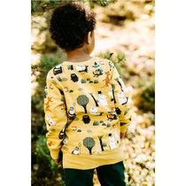 Moomin children's Forest Trip jersey knit shirt, yellow