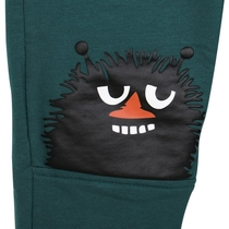 Moomin children's Stinky jersey knit trousers, green