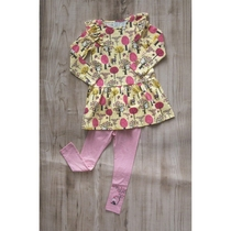Moomin children's dress Fruit farm, yellow