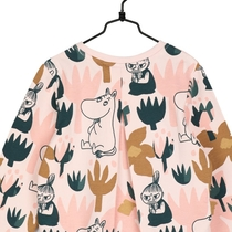 Moomin children's jersey knit tunic Blooming, rose