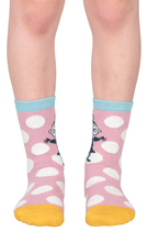 Moomin children's socks 2 pairs, Little My Polka, different sizes, pink
