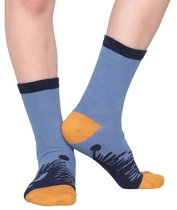 Moomin children's socks 2 pairs, Stinky&Sniff Polka, different sizes, blue