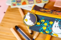 Moomin fabric pencil case / make up bag, fruit tree
