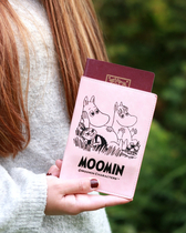 Moomin faux leather passport cover, pink
