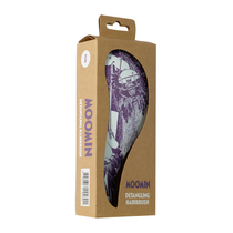 Moomin hair brush for detangling, Snorkmaiden and Moomintroll, violet