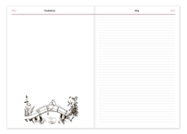 Moomin hardcover weekly calendar for the year 2022, A5