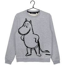 Moomin men's Sketch jersey knit Moomintroll, grey