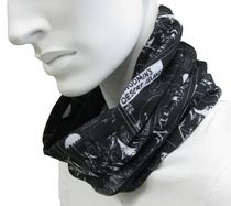 Moomin multifuntional scarf, black
