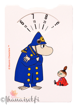 Moomin parking disc, Inspector & Little My