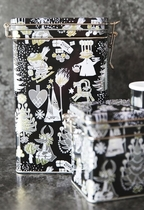 Moomin tea caddy / storing can, Too-Ticky's Christmas