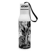 Moomin thermos flask, Moomintroll, black/white