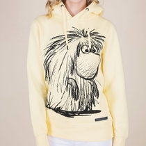 Moomin women's Ancestor hoodie Sketch, yellow