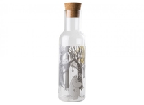 Muurla Moomin Forest glass bottle with cork lid, 1L