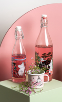 Muurla Moomin Glass Bottle 1l Day in the Garden